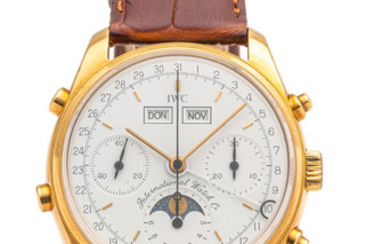 IWC, REF. 3710, TRIPLE DATE MOONPHASE CHRONOGRAPH, No. 082/150, GOLD