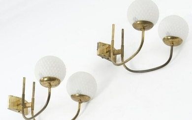 Italy, Set of two wall lights, c. 1958