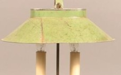 Jerry Martin 2014 Green Painted Tin Student Lamp.