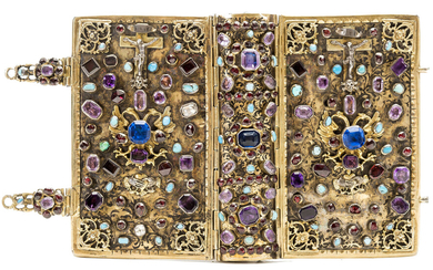 Jewelled Binding.- Journée du Chrétien (La), inserted into a 17thC silver-gilt jewelled binding, 1844.