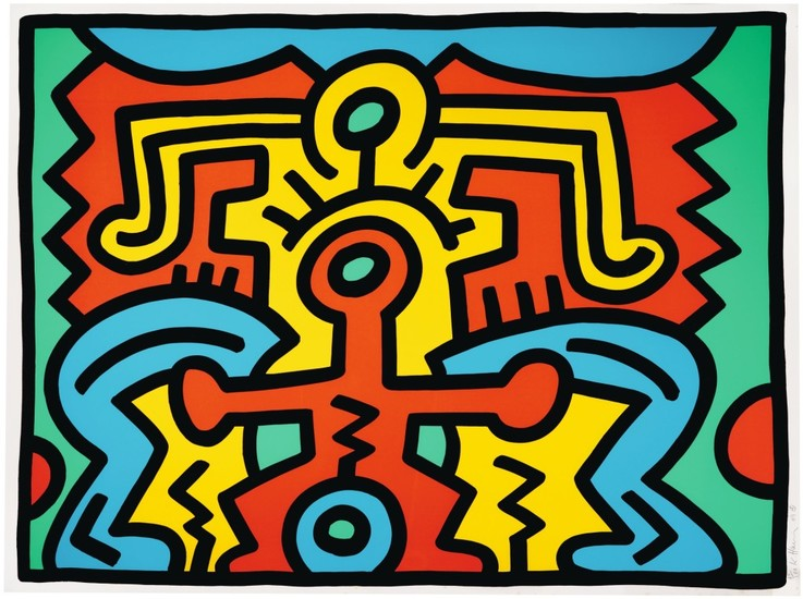 KEITH HARING | UNTITLED (L. P. 91)