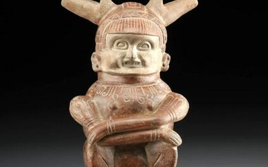 Large Calima Pottery Seated Figure Vessel w/ TL