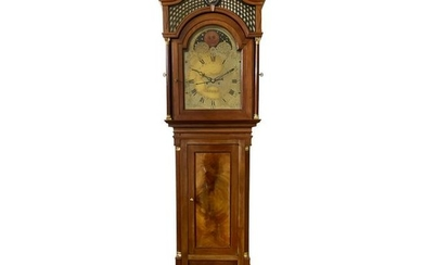 Longcase Clock with Carillon and Moon Phase, c. 1800