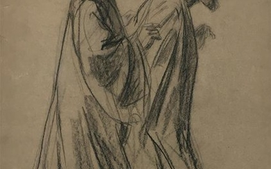 MAX LIEBERMANN Signed Charcoal Drawing German