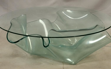 MODERNIST STYLE, GLASS COFFEE TABLE