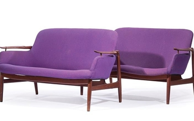 Pair of Finn Juhl Model NV-53 Settees