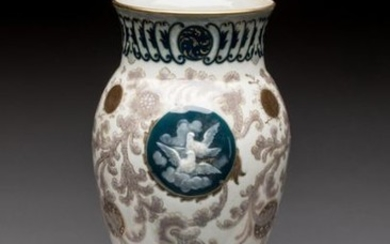 SEVRES. Albert DAMMOUSE (1848-1926). Porcelain baluster vase to...