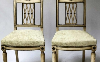 SIDE CHAIRS, a pair, French 19th century Directoire style du...