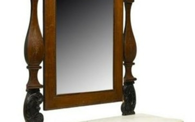 SPANISH MAHOGANY CONSOLE TABLE & MIRROR