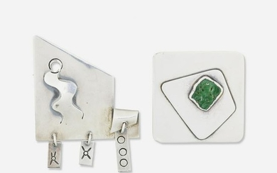 Sam Kramer, Two modernist silver brooches