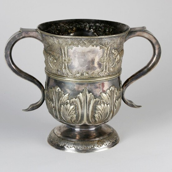 Silver Plated Hunting Trophy Cup, 19th Century