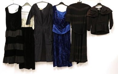 Six Items of Circa 1950's-1960's Ladies' Evening Wear, comprising a...