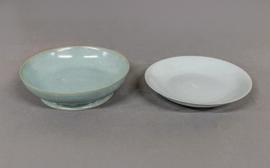 Two Chinese Celadon Deep Dishes