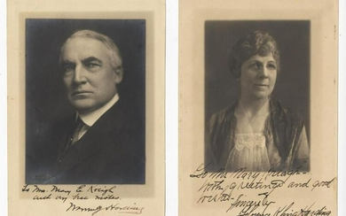 Warren & Florence Harding Signed Photographs