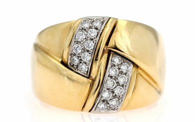 NOT SOLD. Wempe: A diamond ring set with numerous brilliant-cut diamonds, mounted in 18k gold....