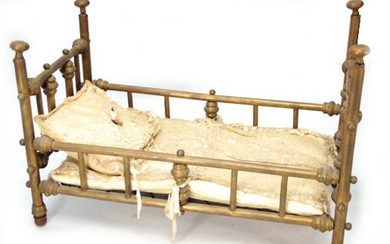 cast iron doll bed, width: 49 cm, depth: 25 cm, height