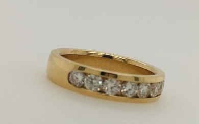 14 kt. Gold, Yellow gold - Ring - Diamonds
