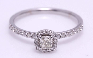 14 kt. White gold - Ring - 0.55 ct Diamond - Diamond