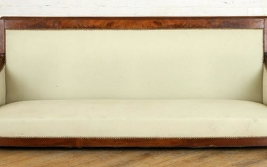 19TH C. FRENCH EMPIRE SOFA CONVERTED DOG/CAT BED