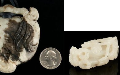 2 Chinese Carved Jade Items, incl. White Jade