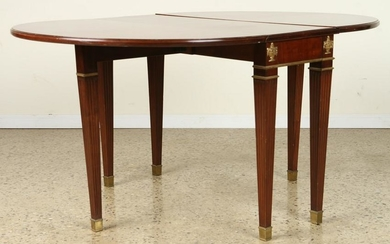 NEOCLASSICAL STYLE MAHOGANY DINING TABLE C.1940