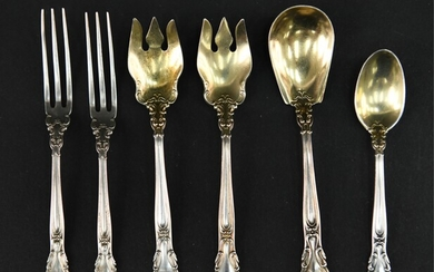 (6) GORHAM STERLING SILVER SPOONS AND FORKS