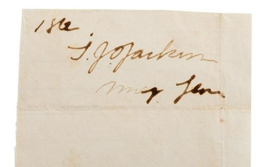 "Thomas J. ""Stonewall"" Jackson Clipped Signature as"