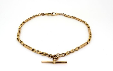 9K Gold - Antique double Albert chain