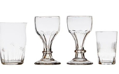 A COLLECTION OF ANTIQUE AND LATER GLASSWARE