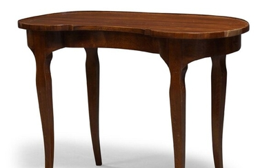 A Continental kidney shaped cherry wood side table,18th Century, with...