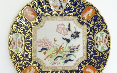 A Mason's plate with lobed rim decorated with