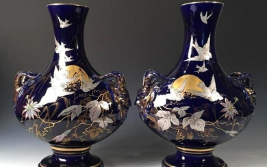 A Pair of French 'Japonism' Ceramic Vases