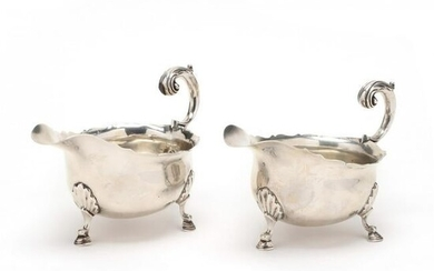 A Pair of George V Silver Sauce Boats