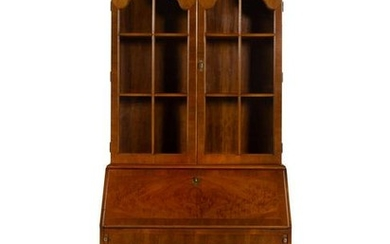 A Queen Anne Style Double Dome Walnut Secretary
