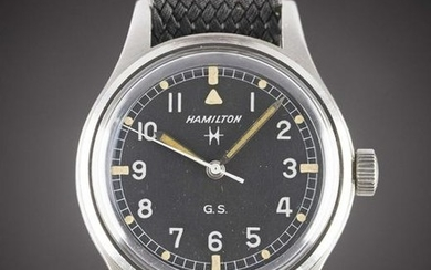 A RARE GENTLEMAN'S STAINLESS STEEL ABU DHABI DEFENCE