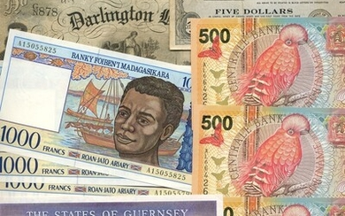 A group of World Banknotes
