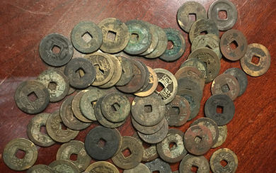 A lot of Chinese Ming and Qing period Bronze Coins