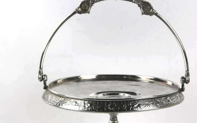 ANTIQUE VICTORIAN SILVER PLATE SERVER