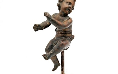 Ancient sculpture of a dancing putto - Baroque - Bronze casting - Late 17th century