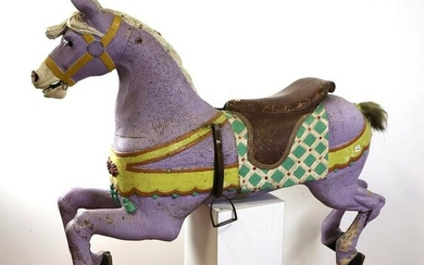 Antique Paint Decorated Carousel Horse