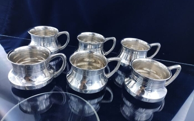 Antique silver coffee set - .800 silver - Hungary - Late 19th century