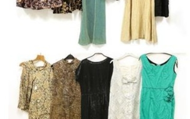 Assorted 1950's-1970's Ladies' Evening Wear, comprising a Melbray of London...