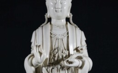 Blanc de Chine Guanyin With Impressed Mark to Back (H72cm)