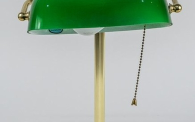 Brass and Glass Student Lamp