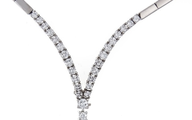 Brilliant necklace WG 750/000 with 27 diamonds, total...
