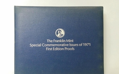 "Collection of thirty six Franklin Mint silver medallions, ""S..."