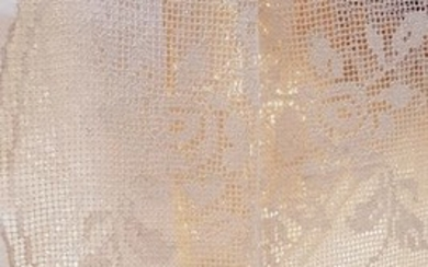 Curtain (1) - linen blend - Late 20th century