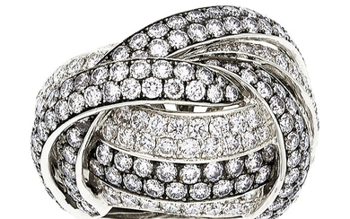 Diamond, White Gold Ring, Danhier The ring features full-cut...