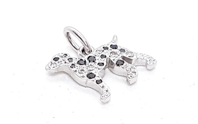 Dodo - 18 kts. White gold - Pendant Diamond - Diamond