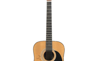 Donovan: An autographed and illustrated Encore W250 acoustic guitar,